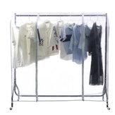 Cubierta transparente para riel de ropa Protector de ropa a prueba de polvo Percha Protector de red