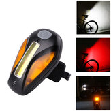 WHEEL UP Bicycle Taillight USB Charge 3 Light Color 5 Flash Mode Bike Taillight Outdoor Sports Hiking Riding Cycling Safety Light
