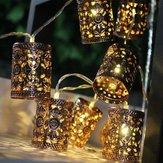 Batería Operado 1,1 millones de LED cálido blanco retro linterna linterna de hadas luces de hadas para vacaciones de Navidad