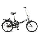 FOREVER 20inch Folding Bike Youth Bicycle Shock Absorption Road Bike with Rear Seat for Adult Kids