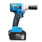 15000mAh Electric Impact Wrench 340Nm Cordless Brushless with 2 Lithium Battery