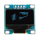0.96 Inch 4Pin IIC I2C SSD136 128x64 DC 3V-5V Blue OLED Display Module Geekcreit for Arduino - products that work with official Arduino boards