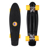 22 Inch Black Plastic Mini Cruiser Skateboard Long Board Banana Retro Skate Longboard Children's Scooter