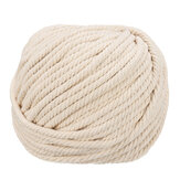 6mmx50m Natural Cotton Twisted Cord Rope Craft Macrame Braided Wire