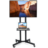 Mobile TV Stand Mount Universal Flat Screen Trolley Cart for 32