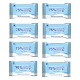 شينتشينغ8عبواتمن10قطع 75٪ مناديل كحولية طبية 99.9٪ مناديل مطهرة مضادة للبكتيريا مناديل مبللة يمكن التخلص منها للتنظيف والتعقيم في مسحة ا