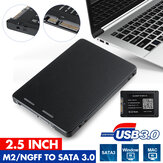 M.2 USB2.0 2.5inch SATA3.0 HDD SSD Enclosure Mobile Laptop Hard Disk Case Box