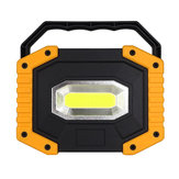 10W COB LED 750-1200LM Portable Rechargeable Camping Light 18650 Battery Waterproof Emergency Flashlight Spotlight Lantern