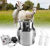 Mungitrice elettrica 14L per mungitrice a pulsante per capra 110 / 220V Benna per mungitrice in acciaio inossidabile Utensile per bestiame da fattoria