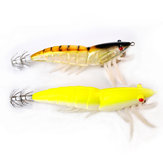 SRP-02-4.0g 92mm Luminous Double Hook Shrimp Fishing Lure Fishing Hard Prawn Lure Bait Night Light