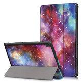 Tri-Fold-Tablet-Hülle für Lenovo Tab E10 Tablet - Milchstraße