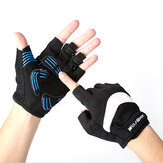 WOLFBIKE Anti-Slip Breathable Cycling Gloves Bicycle Shockproof Half Finger Gloves Short Sports Gloves for Men Women