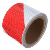 3M Red White Night Safety Reflective Tape Warning Conspicuity Tape Film Sticker