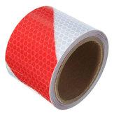 3M fita adesiva de advertência de fita reflexiva de segurança de noite branca vermelha filme adesivo
