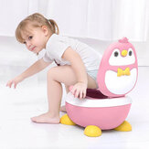 Children Potty Penguin Shape Spatterproof Urine Portable Toilet Freely Adjustable Height for Kid Care