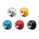 10Pcs M2 Manual Knurled Thumb Aluminum Alloy Screw Nut Spacer Flat Washer