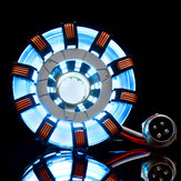 MK2 Acrílico Tony ARC Reactor Modelo DIY Kit Cofre USB Lámpara Accesorios de película Iluminador LED Flash Regalo de juego de luces