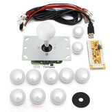 2Pcs White Game Kit console di gioco arcade fai da te Kit parti di ricambio Encoder USB per PC Joystick e Pulsanti