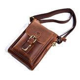 Men Genuine Leather One-Shoulder Bag Vintage Causal Bag