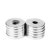 100Pcs 20x3mm Neodymium Magnet with 3mm Hole NdFeB Super Strong Craft Countersunk Round Ring Magnets