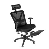 BlitzWolf® BW-HOC6 Office Chair Mesh Midday Rest Chair with Hidden Retractable Footrest Adjustable Headrest & Lumbar Support Breathable Mesh Large Tilt + Rocking Office Home
