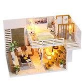 iiecreate K031 Simple And Elegan Casa delle bambole fai-da-te con il giocattolo del regalo della copertura della luce della mobilia