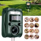 Répulsif animal ultrasonique d'énergie solaire jardin de pelouse imperméable LED répulsif léger dissuasif extérieur