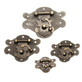 Antique Retro Decorative Latch Vintage Wooden Jewelry Caixa Drawer Hasp Pad Chest Lock 4 Tamanhos