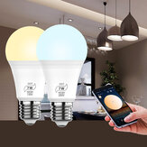 AC100-130V / 180-240V 7W Bluetooth Mesh Smart Bulb E27 E26 B22 CCT LED Indoor Light Werken met Alexa Google Home