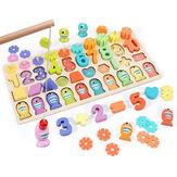 3/4/5 IN 1 houten cijfers & Fruit Jigsaw Math Puzzle Kinderen leren educatief speelgoed