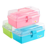 Three-Tier Medical Box Multifunction First Aid Kit Plastic Folding Medical Chest Organizer For Makeup Storage Box