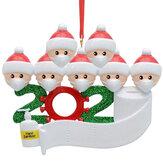 Новогодняя фигурка, украшения, рождественская елка, Санта-Клаус, снеговик, подвески, День благодарения, подарок, украшения для дома, 2020