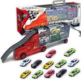 Mylitdear 1:43 Alaşım Araba Modeli Plastik Kamyon 12 Adet / grup MINI Metal Parça Oyuncaklar Kit