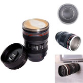 400ML Camera Lens Coffee Mug Stainless Steel Water Cup Photographer Gift Coffee Cup with Sucker for Camping Travel
