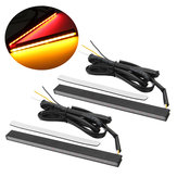 2pcs 12V 28LEDs Dual Color Car Light Brake Turn Signal Lamp para caminhões e reboques