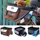 Pet Puppy Bicycle Basket Storage Puppy Ride Bike Canopy Dog Cat Carrier Safety Bike Basket