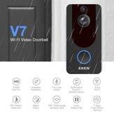 Eken V7 Wireless WiFi Intelligent Visual 1080P Doorbell Night Vision Video Intercom Doorbell Induction Cat Eye