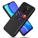 Bakeey for Xiaomi Redmi 9 Caso Couro PU de luxo + pano com slot de cartão Proteção anti-riscos à prova de choque Caso Não original