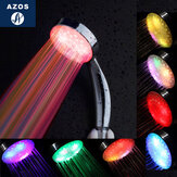 AZOS Handheld 7 Color LED Changing Romantic Light Water Bath Home Bathroom Shower Head Glow G1/2 Inch