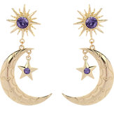 Trendy Sun Moon Star Big Ear Drop Earring