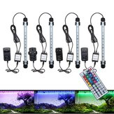 28 CM 4.5 W SMD5050 RGB LED Tanque de peixes de aquário Mudança de cor Bar Lâmpada submersa + 44 Teclas Controle Remoto