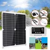 100W solare Kit pannello 12V 30A LCD Controller fai da te solare Caricabatterie per telefoni di sistema Portatile solare Cellulare da esterno campeggio Viaggio