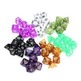 126 stuks RPG MTG polyedrische dobbelstenen 18 sets met buideltassen 18 kleuren