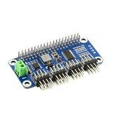 Driver servo Waveshare HAT B Tipo com 16 canais 12bit I2C Interface Pinheader de ângulo reto para Raspberry Pi