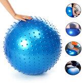 PVCエクササイズボールアンチバーストプロフェッショナルマッサージインフレータブルバランスコントロールピラティスヨガボールポンプ付き