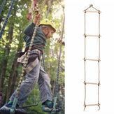 5 basamaklı ahşap tırmanma Rope çocuklar için merdiven salıncak