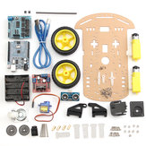 5Pcs 2WD Ultrasonic Smart Robot Car Chassis Tracking Car DIY Kit For