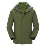 Men Camping Hiking Waterproof Windproof Triple Soft Shell Warm Liner Coats Jacket