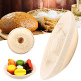 Handmade Round Oval Banneton Bortform Rattan Storage Baskets Bread Dough Proofing Liner