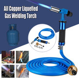Electronic Ignition Full Copperr Liquefied High Temperature Gas Welding Torch Kit + 3meters Tube